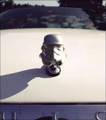 geeky car logos stormtrooper ornament