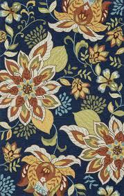 Francesca Rugs 5x8 Loloi Rug Transitional Francesca Blue Floral Hand Hooked
