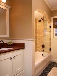 TubShower Page  Tubshower Combo With Tile Glass Half Wall - Bathroom tub and shower designs