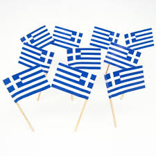 greek flag toothpicks greece greecian theme party