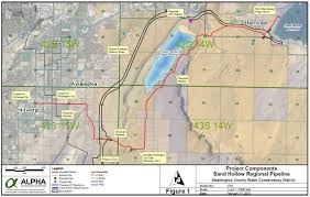 Map St George Utah by Sand Hollow Regional Pipeline Washington County Water