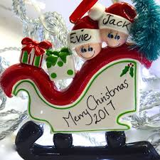 christmas family personalised decoration by letteroom
