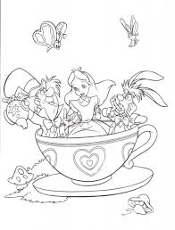 kids n fun 16 coloring pages of alice in wonderland in alice in