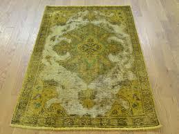3 u0027 x 4 5 u0027 gold overdyed persian tabriz barjasta handmade pure wool