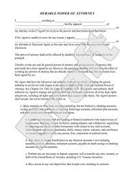 power of authority template durable power of attorney form rocket lawyer