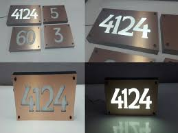 light up address sign custom aluminum acrylic led house numbers sign 5 tall numbers