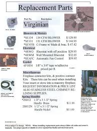 Wood Burning Fireplace Parts by Wood Stove Parts