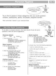 personal hygiene worksheets for kids level 2 5 hygiene