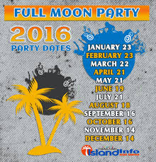 2016 full moon party dates 2016 thailand full moon party koh