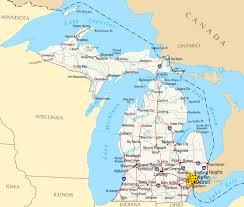 Map Of Upper Michigan by Large Map Of Michigan Michigan Map