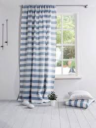 Striped Linen Curtains Striped Linen Curtain Curtain In Demin Blue And By Linenhomedecor