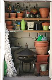 organizing the garden tool shed