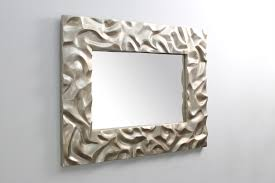 silver sand ripple mirror forwood design unique sculpture mirror for unique mirror wall art wall sculpture for home interior design