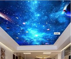 plafond chambre étoilé 3d chambre papier peint peinture murale personnalisée non tissé