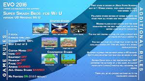 Evo 2016 Smash 4 Wii U Ruleset Graphic Unofficial U2013 Bassem Bear