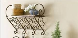 buy wrought iron coat rack wall mounted and get free shipping on