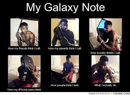 Galaxy Note Meme - samsung galaxy note thread a phone so big smaller phones orbits
