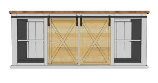 Sliding Kitchen Cabinet Doors Ana White Grandy Sliding Door Console Diy Projects