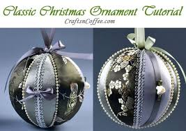 how to make a classic ornament using fabric and foam