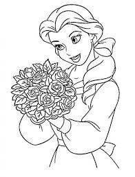 princess belle coloring pages print 36185