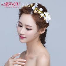 wedding headdress buy petal pearl headdress korean wedding headdress