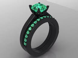black gold engagement ring black gold engagement ring set bloomed inspired vvs