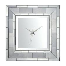 Large Mirrored Wall Clock Wall Clock Sunburst Wall Clock Mirror Modern 3d Mirror Wall