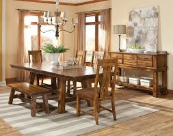 timberline trestle table dining room set by intercon home