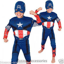 Boys Kids Halloween Costumes Ck154 Captain America Premium Avengers Boys Book Week Kids
