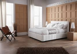 serene lucca 5ft kingsize white faux leather ottoman bed frame by