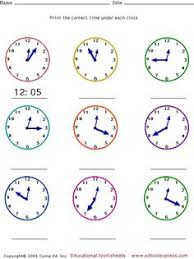 telling time to nearest five minutes worksheet educational 2nd