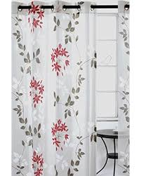 Gray And Red Curtains Amazing Deal On Dreamscape Sheer Leaf Burnout Grommet Curtain