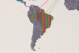 Images Of The World Map by Cross Stitch Map Content Gallery Sew Your Way Around The World