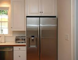 space between top of refrigerator and cabinet kitchen refrigerator cabinet medium size of for space above