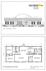 ranch floor plans model homes floor plans marion il horizons homes inc