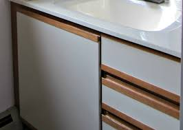 painting laminate bathroom cabinets before and after how to paint