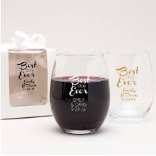 stemless wine glasses wedding favors best day personalized stemless wine glass personalized