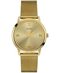 gold guess bracelet images Guess men 39 s diamond accent gold tone stainless steel mesh bracelet tif