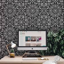 moroccan stencils create moroccan pattern decor with stencil