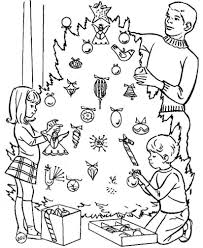 print decorating christmas tree coloring pages or download