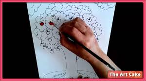 an apple tree water colour painting how to draw an apple tree in