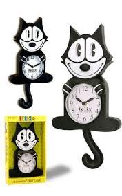 original felix the cat clock tin toy arcade
