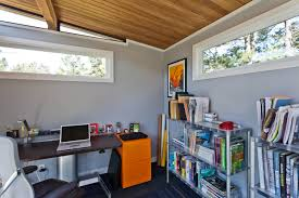 modern shed tips working from home
