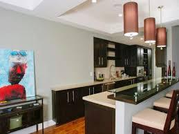 kitchen room pinch pleat curtains tile backsplash modern
