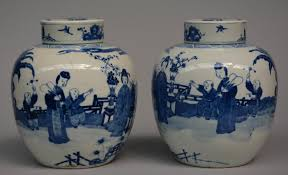 28 Light Blue And White 51bidlive A Pair Of Chinese Blue And White Ginger Jars Overall