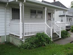 Exterior Stair Railing by Patio Inspirational Spaces For Artful And Practical With Porch