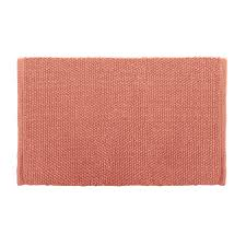 Cotton Bathroom Rugs Shop Colordrift Popcorn Bath Rug 20 0 In X 30 0 In Coral Cotton