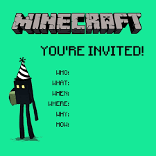 minecraft birthday invitations minecraft birthday invitations ideas invitations templates