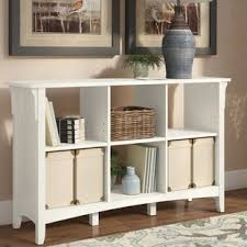 Antique White Bookcase With Doors Antique White Bookshelf Wayfair