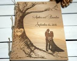 engraved wedding album personalized wedding guest book personalized album wedding